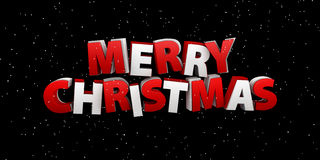 Joyeux Noël Illustration de vacances Composition en lettrage avec la neige Image libre de droits