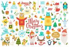 Joyeux Noël Jingle Bells Vector Illustration Photographie stock libre de droits