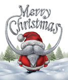 Joyeux Noël le père noël Photo stock