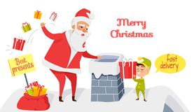 Joyeux Noël Les meilleurs présents La distribution rapide Photographie stock