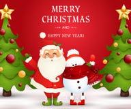 Joyeux Noël An neuf heureux E illustration libre de droits