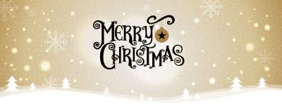 Joyeux Noël An neuf heureux Illustration de vecteur lettrage Photos stock