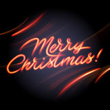 Joyeux Noël - peinture légère rougeoyante Illustration de Vecteur