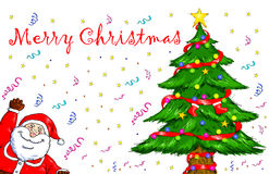 Joyeux Noël Santa Claus Christmas Tree Celebration Image stock