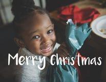 Joyeux Noël Santa Claus Happy Concept images libres de droits