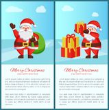 Joyeux Noël Santa Claus Vector Illustration Photos stock