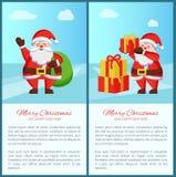 Joyeux Noël Santa Claus Vector Illustration Photos stock