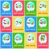 Joyeux Noël Santa Vector Illustration inquiétée Illustration de Vecteur