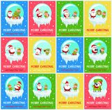 Joyeux Noël Santa Vector Illustration inquiétée Image stock