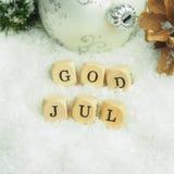 Joyeux Noël scandinave Photo libre de droits