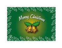 Joyeux Noël (vert) Image libre de droits