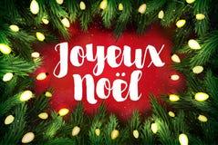 Joyeux Noel francuz dla Wesoło bożych narodzeń bożych narodzeń kartka z pozdrowieniami ilustracji