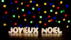 Joyeux Noel, glad jul i franskt språk Royaltyfria Bilder