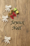 Joyeux Noel Royalty Free Stock Photography
