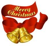 Joyeux Noël Bells Photographie stock libre de droits