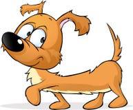Joyeux teckel - illustration mignonne de chien d'isolement sur le blanc Photo stock