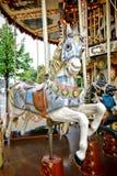 Joyeux vont cheval de carrousel de tour d'amusement de rond le vieux photo stock