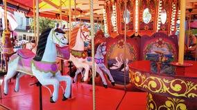 Joyeux vont les chevaux de rond Image stock