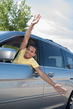 Joyful African American Driver Stock Photography