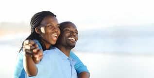 Joyful African Couple Stock Photography