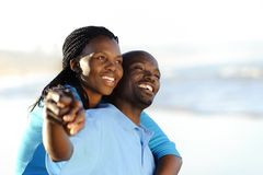 Joyful African Couple Royalty Free Stock Photography
