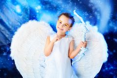 Joyful angel Royalty Free Stock Photography