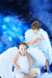 Joyful angels Stock Photography