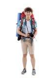 Joyful Asian hiker Stock Image