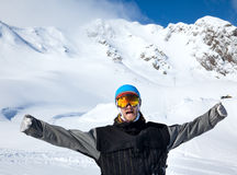 Joyful athlete Snowboarder Royalty Free Stock Photo