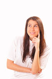Joyful and attractive brunette woman Royalty Free Stock Images