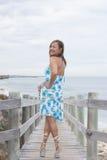 Joyful attractive senior woman outdoor Royalty Free Stock Photos