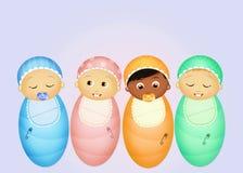 Joyful babies. Cute illustration of joyful babies Stock Photography