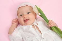 Joyful baby Royalty Free Stock Photos