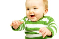 Joyful Baby stock image