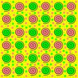 Joyful background with spirals Stock Images
