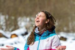 joyful barn för flicka Arkivfoton
