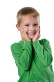 Joyful beautiful little boy Royalty Free Stock Photo