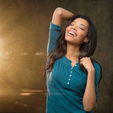 Joyful beautiful woman Royalty Free Stock Photography
