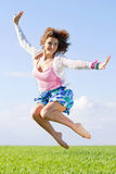 Joyful beautiful young woman Stock Image