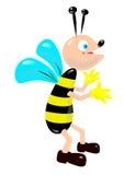 Joyful bee royalty free stock photo