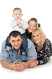Joyful big family posing Royalty Free Stock Image