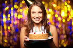 Joyful birthday Stock Images