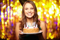 Joyful birthday Royalty Free Stock Photo