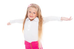 Joyful blond girl Stock Photos