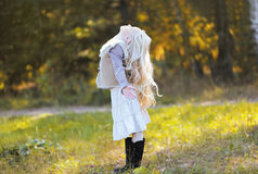 Joyful blond teen girl Stock Photography