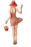Beauty fashion. Joyful boho slim model girl, summer look.  Royalty Free Stock Photos