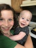 Joyful Brother and Sister Smiling stock photos