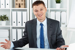 Joyful business man Royalty Free Stock Photo