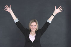 Joyful Business Woman Stock Photo