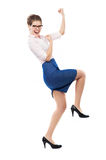 Joyful business woman Stock Photography